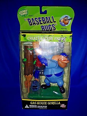 Looney Tunes Baseball Bugs Gas House Gorilla Create- A-Scene Figure~DC Direct