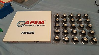 NEW 25pcs APEM MPKA90B14 Top Rotary Control Turning Knob Potentiometer Knob NOS