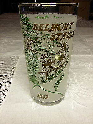 Official 1977 Belmont Stakes Souvenir Glass by Libby