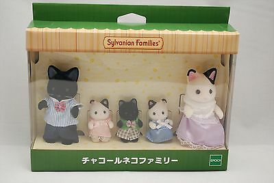 Sylvanian Families Calico Critters Charcoal Cat Family (Forest House) F/S Japan