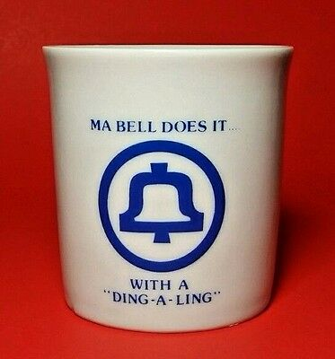 Ma Bell Mug Westwood Telephone With A Ding-A-Ling Ceramic Japan Excellent