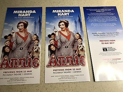 Flyers X 3 ANNIE The Musical Miranda Hart Piccadilly Theatre