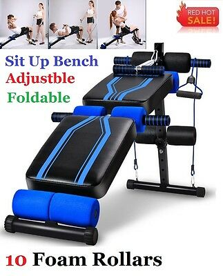 New Adjustable Sit Up Abdominal Bench Press Weight Gym Exercise Fitness Decline