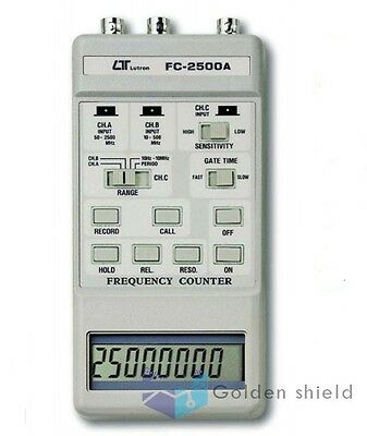 LutronFC-2500A Frequency Counter(2500/100/10MHz)2.5GHz Meter Tester Measurement