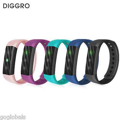 Diggro Smart Watch Bracelet Sport Fitness Tracker Bluetooth SMS For Android IOS