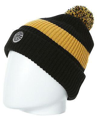 New Rip Curl Men's Mid Lines Beanie Canvas Acrylic Black