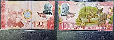 Costa Rica 2009 1 Mil Colones Currency Note