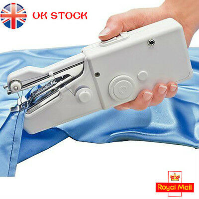 Electric Portable Smart Mini Sewing Machine Tailor Hand held Stitch Fabric Sew