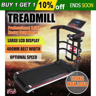 Electric Treadmill Multifunction Fitness Exercise Fold Machine Motor Home Gym