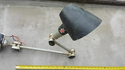 VINTAGE 60's EDL INDUSTRIAL MACHINISTS LATHE BENCH WALL LIGHT LAMP ANGLEPOISE