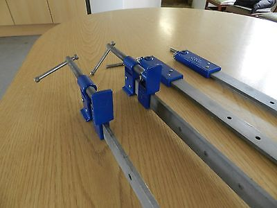 """Record Sash clamps 48"""" x 2 with 36"""" lengthening bars x 2"""
