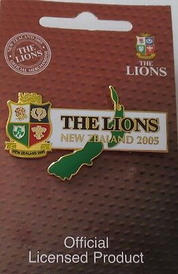 British & Irish Lions Rugby Union 2005 Tour of New Zealand Pin Badge, All Blacks