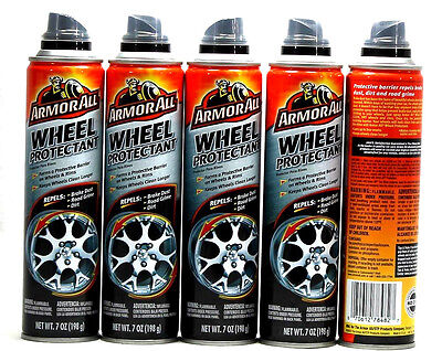 5 Armor All Wheel Protectant Repels Brake Dust Road Grime And Dirt 7 oz.