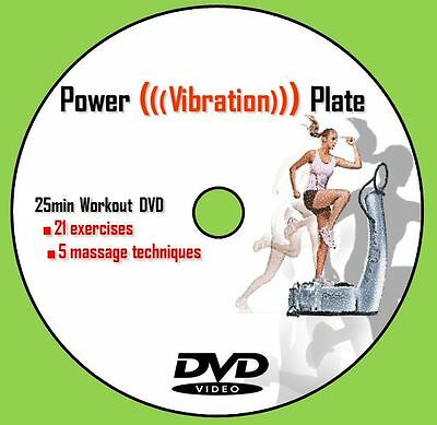 Vibration Power Plate Trainer Exercise Workout DVD