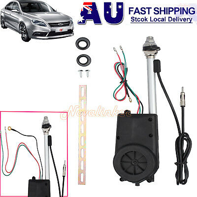 Universal Car SUV Electric Automatic Antenna AM FM Radio Mast Aerial Mast 12V