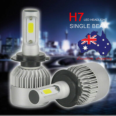 2x H7 200W 20000LM LED Car Headlights Conversion Globes Bulbs Beam Kit 6000K AU