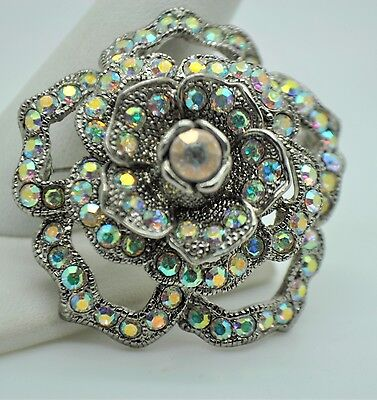 Vintage Flower Style Brooches clear ab color high-quality Bouquet  fashion