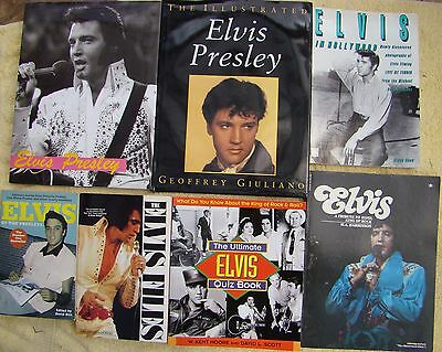 ♫ ELVIS PRESLEY  7 Elvis books - some rare - OOP - in great condition - lot 6 ♫