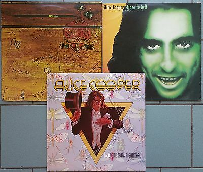 ♫ 3 classic ALICE COOPER albums  -vinyl is in good and excellent condition ♫