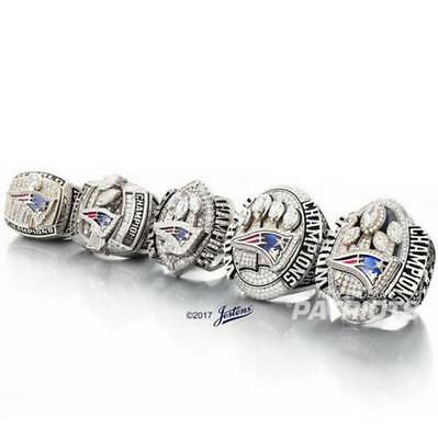 2001 2003 2004 2014 2016 New England Patriots Championship Ring Set Men Gift