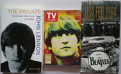 ♫ THE BEATLES 3 books TV guide USA 1964 Tour - OOP in good condition - lot 30 ♫