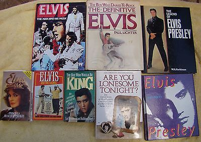 ♫ ELVIS PRESLEY  8 Elvis books - some rare - OOP - in great condition - lot 13 ♫