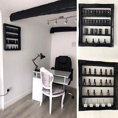 Nail Varnish Gel Nails Polish wall mounted display Vintage Frame Shelving Retail