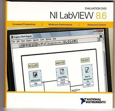 Evaluation DVDs - NI LabVIEW 8.6 - NEW