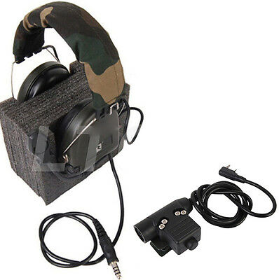 U94 PTT Z-Tactical For TYT KENWOOD F8 BAOFENG 5R RADIO  Military Adapter