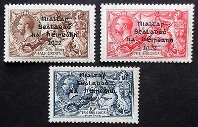 (A339) Ireland 1922 #18,19 and #21 Set of (3) LMH.