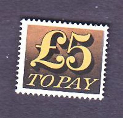 """Gb Stamp  #j91 , 5 Pounds """"to Pay"""""""