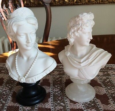 A Giannelli Two Alabaster Busts