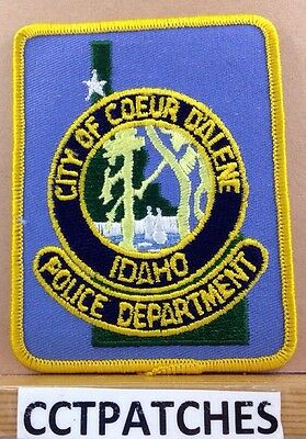 City Of Coeur D'alene, Idaho Police Shoulder Patch Id