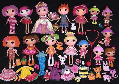 Lalaloopsy Dolls Bundle X15 Large+little Sisters+pets+extra Clothes/shoes