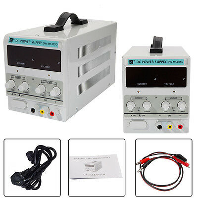 uk stock QW-MS305D Adjustable Lab DC Bench Power Supply 30V 5A Variable Linear