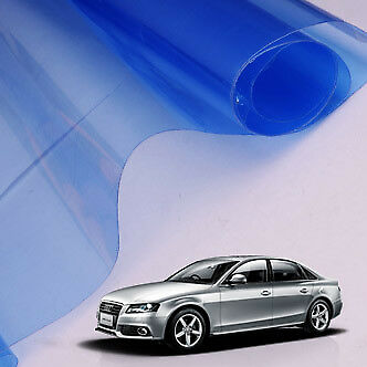 "12"" x 24"" Car Motor Blue Smoke Headlight Tail Light Tint Vinyl Film Sheet"