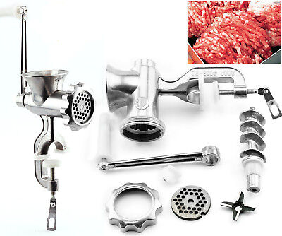 Meat Grinder Mincer Stuffer Table Manual Sausage Filler Sauce Maker Machine AU