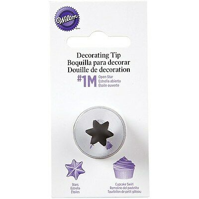 Wilton No 1M Open Star Decorating Tip cake cupcake piping rose nozzle