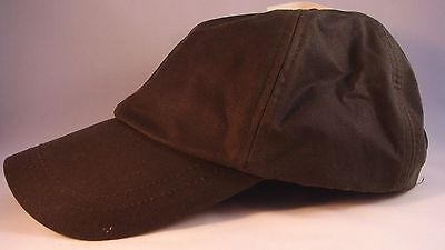 ef1ce44b2ec Baseball Cap Olive Work Casual Sports Leisure.waxed Cotton-One Size.  Comfortable