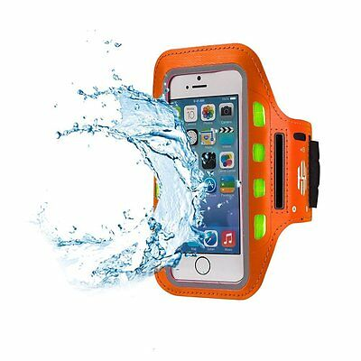 Hot Sky LED Fitness Arm Band for Running, Jogging & Cycling Adjustable - Orange