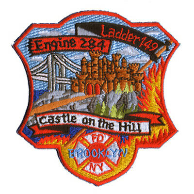 FDNY Abzeichen Feuerwehr New York Patch  E 284 L 149 CASTLE ON THE HILL