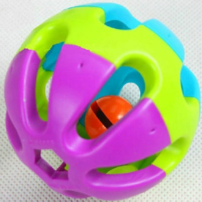 Colorful Pet Bell Ball Chew Sound Training Toy for Dog Cat Parrots Budgie Rabbit