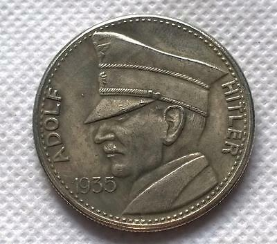1935 German Adolf Hitler 5 RM token looks old WW2