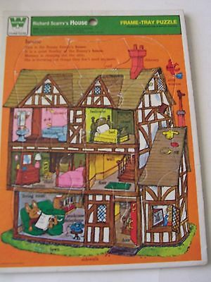 1966 Whitman Frame-Tray Puzzle - Richard Scarry's House - Good Used Condition