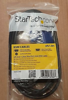 StarTech 6ft/1.83m 3-in-1 PS/2 VGA KVM Cable ( SVECON6 ) *FREE DELIVERY*