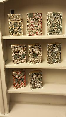 Set of 8 vintage Arthur Ransom  novels 1.12 scale with turnable blank pages .