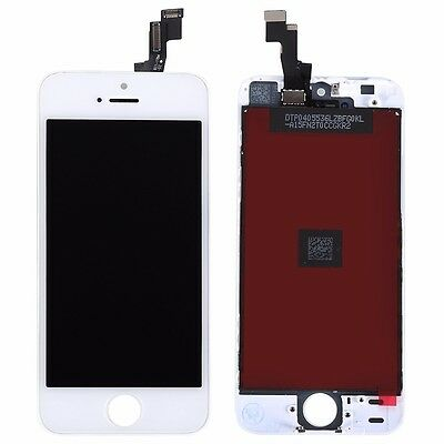 White For iPhone 5S LCD Lens Touch Screen Display Digitizer Assembly Replacement