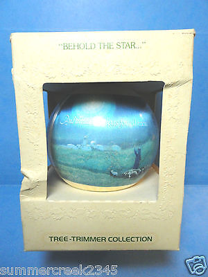 "Hallmark ""Behold The Star"" Ball Tree Trimmer Ball Ornament 1979"