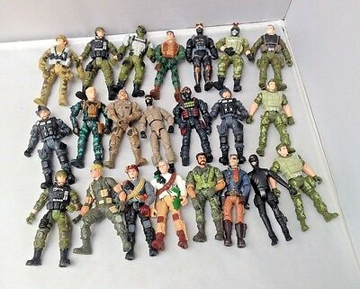 Large Bundle of Toy Army Military Soldiers Action Figures incl Lanard, Chap Mei