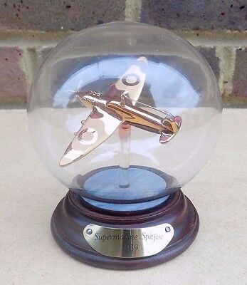 MAYFLOWER GLASS Supermarine Spitfire Model in in Glass Dome